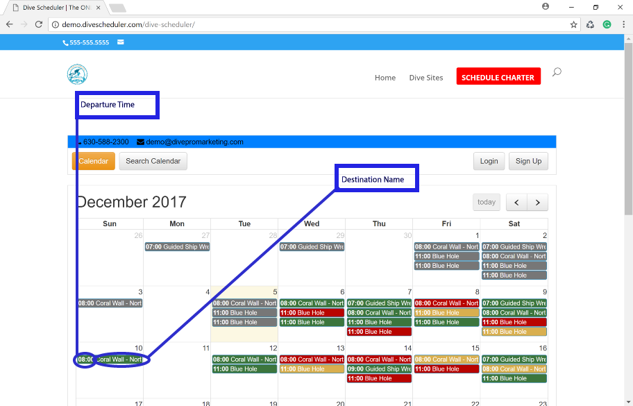 How to Change the Display Description on the Calendar