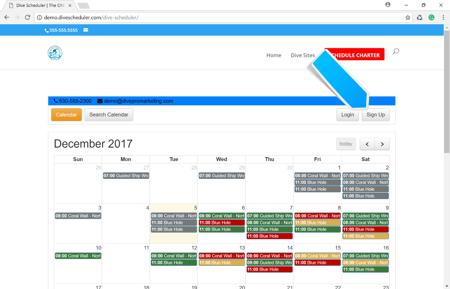Dive Scheduler: How to Create and Account for a Diver